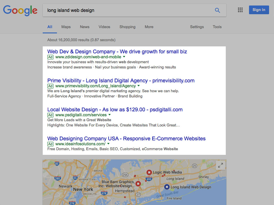 Paid Search Results Placement