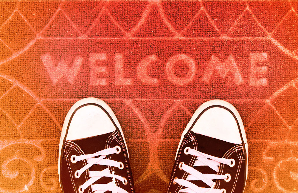 Website Homepage Welcome Mat