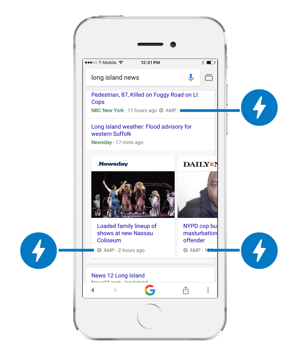 AMP Search Results Example of Long Island News Search
