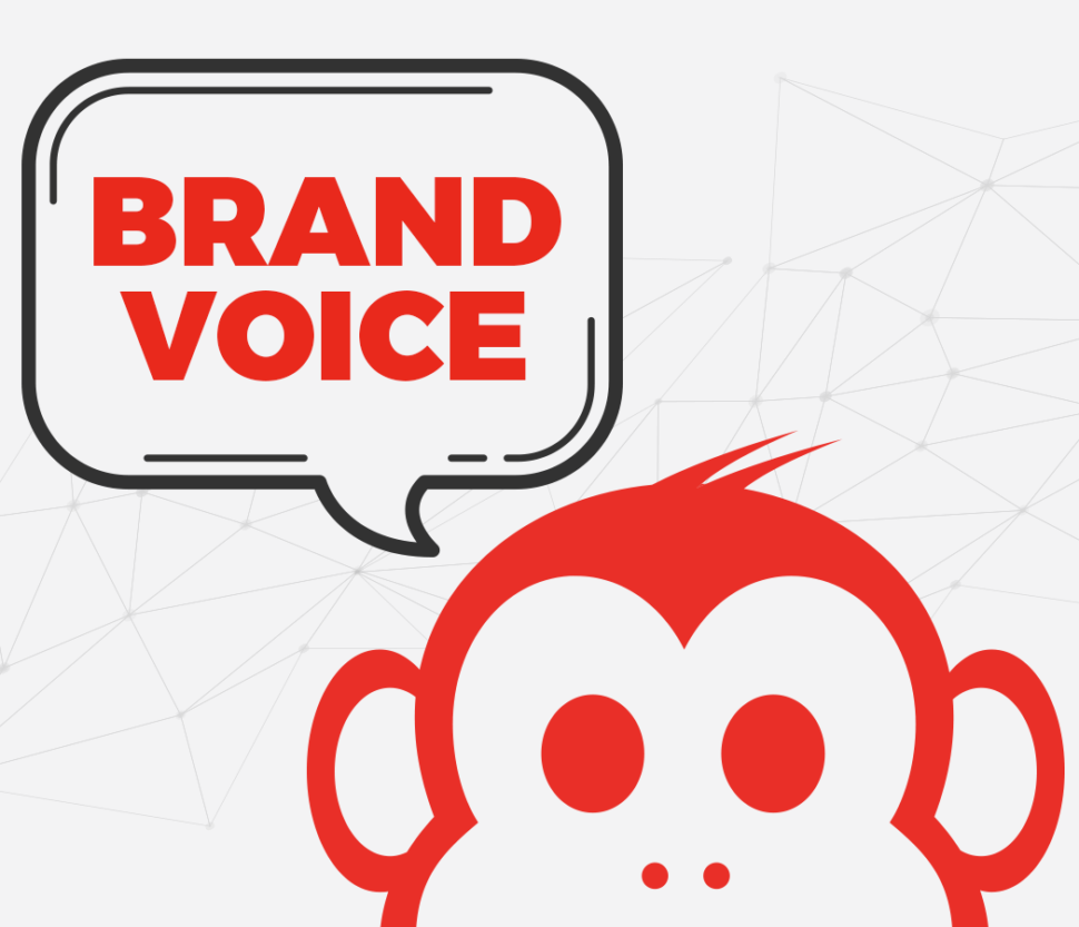 Brand Voice Graphic with Monkey