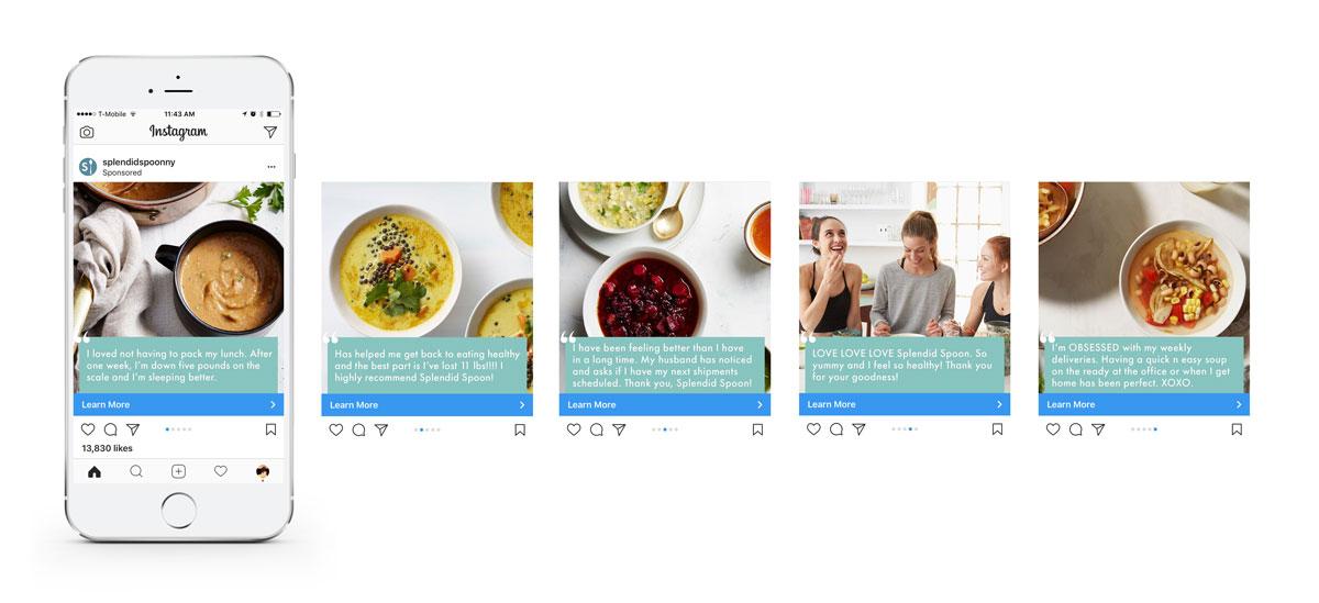 Instagram Sponsored Slider Example