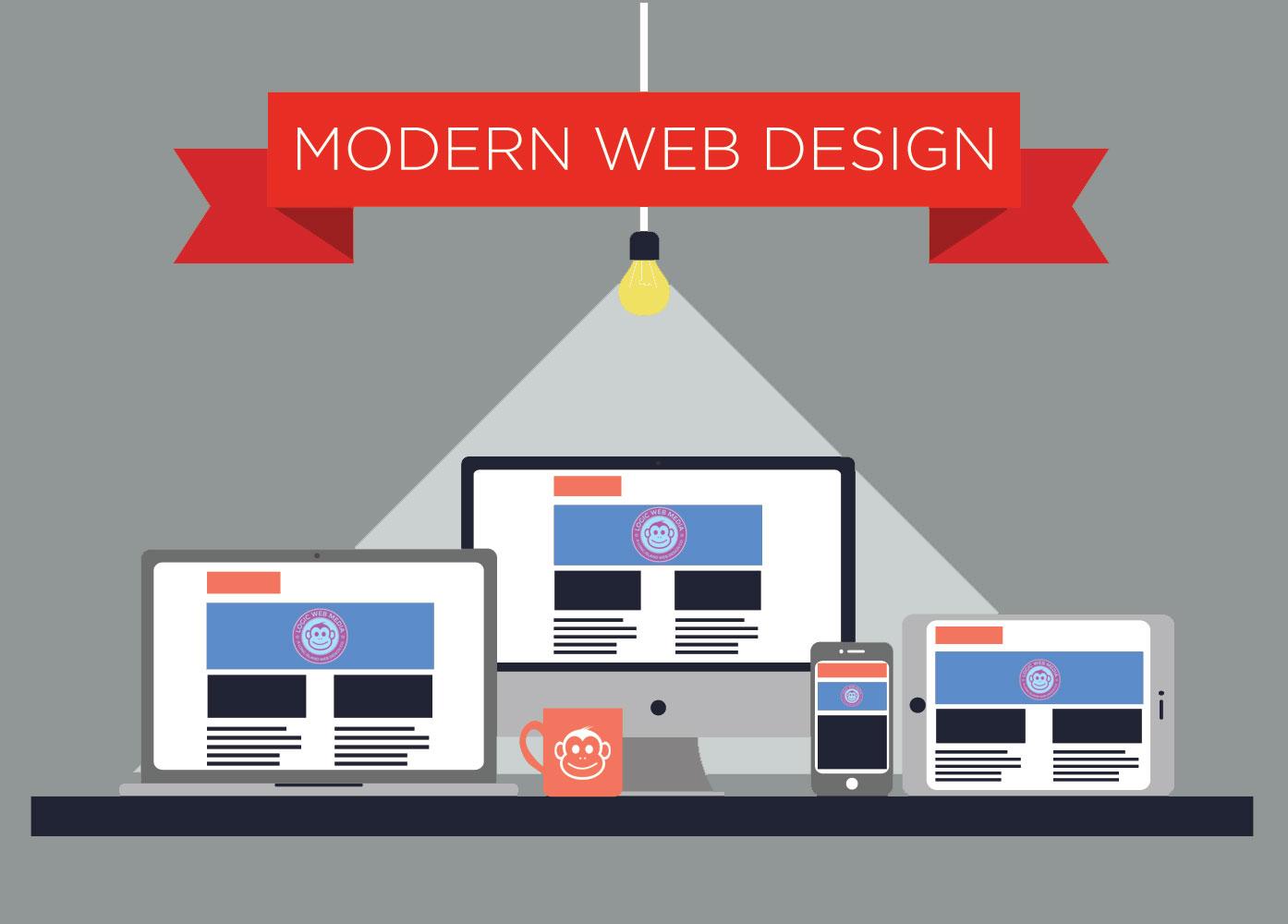 Modern Web Design Graphic