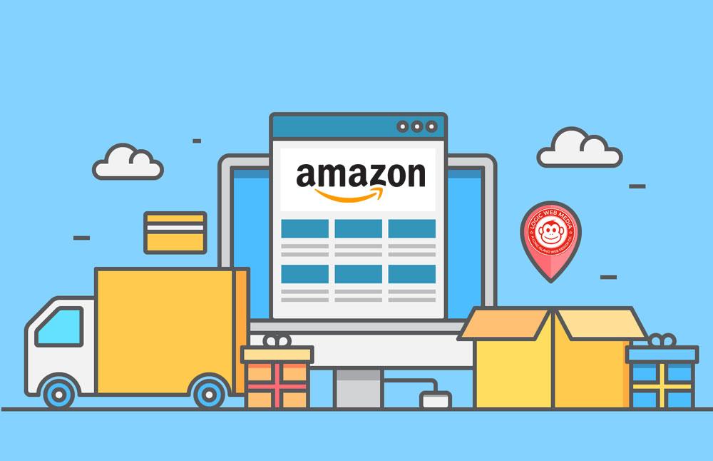 graphic of amazon ecommerce shopping